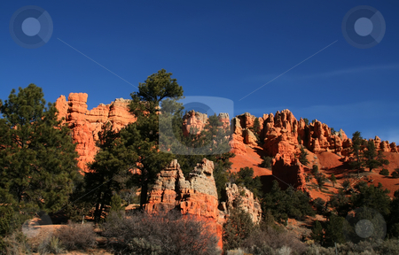Bryce Canyon  stock photo, View of the red rock formations in Bryce Canyon National Park by Mark Smith