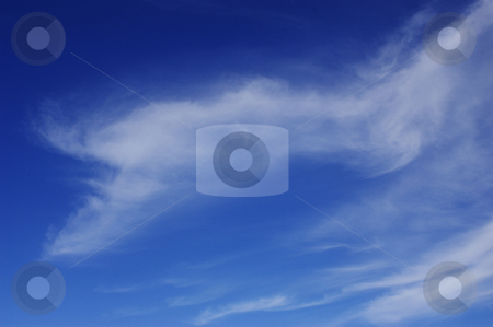 Blue sky background stock photo, Blue sky background by Tom Weatherhead