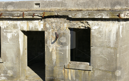 Abandoned building stock photo, An exterior view of an abandoned building that is constructed of concrete and steel by Tom Weatherhead