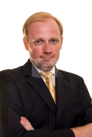Businesman stock photo, Businesman on white background by Roman Kalashnikov