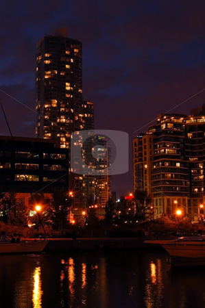 Toronto stock photo, Toronto water front in the night by Pavel Cheiko