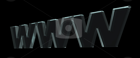 Www stock photo, Www letters on black background - 3d illustration by J?