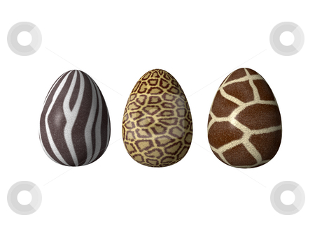 Easter eggs stock photo, Easter-eggs in african style - 3d illustration by J?