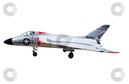 Radio Controlled Model of a Marine Jet stock photo, Radio Controlled Model of a Marine Jet isolated with clipping path. by Margo Harrison