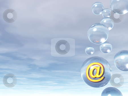 Email bubble stock photo, Email alias in a glass ball - 3d illustration by J?