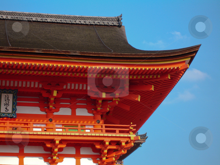 Japanese Temple stock photo, An iconic Japanese temple roof by Paul Malandain