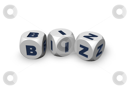 Biz domain stock photo, Three dices with the letters biz - 3d illustration by J?