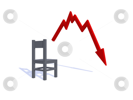 Graph stock photo, Business graph shows bad news - 3d illustration by J?
