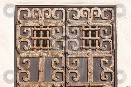 Spanish Colonial Style Door stock photo, Spanish Colonial Style dominated in the early Spanish colonies of North and South America, and were also somewhat visible in its other colonies. by Mariusz Jurgielewicz