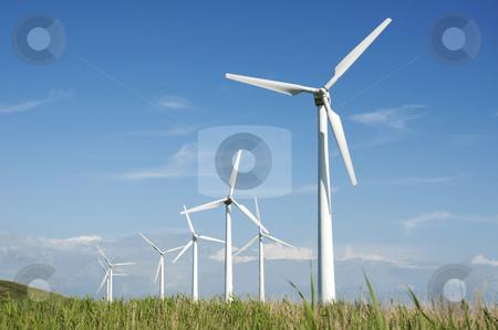 Wind turbine  stock photo, Wind turbines at the west coast of Denmark by Jesper Klausen