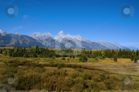 Tetons stock photo, Grand Teton National Park In the Fall by Mark Smith