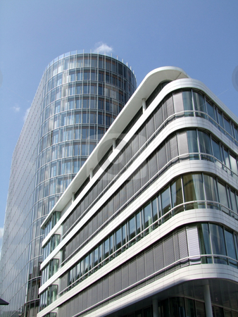 Architecture stock photo, Modern architecture with glass windows by Birgit Reitz-Hofmann
