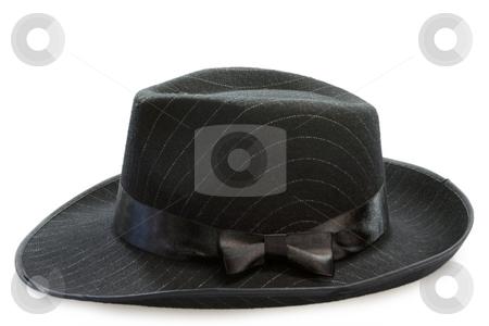 Mens hat stock photo, Black mans hat on white background by Birgit Reitz-Hofmann