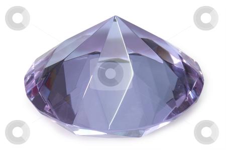 Cristal stock photo, Decorative purple diamond isolated on white by Birgit Reitz-Hofmann