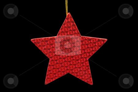 Chrismas star stock photo, Decorative chrismas star isolated on black background by Birgit Reitz-Hofmann