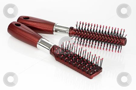 Hairbrush stock photo, Plastic Hairbrush isolated over bright background by Birgit Reitz-Hofmann