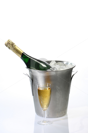 Champagne stock photo, Champagne toast composition on bright background by Birgit Reitz-Hofmann