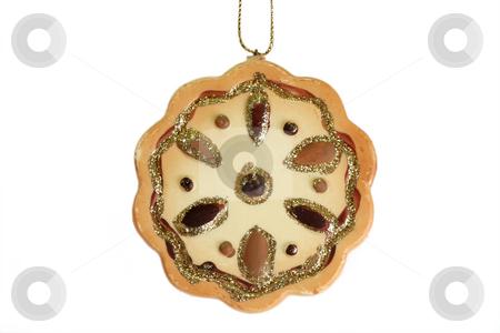 Chrismas decoration stock photo, Christmas tree decoration ball isolated on white background by Birgit Reitz-Hofmann