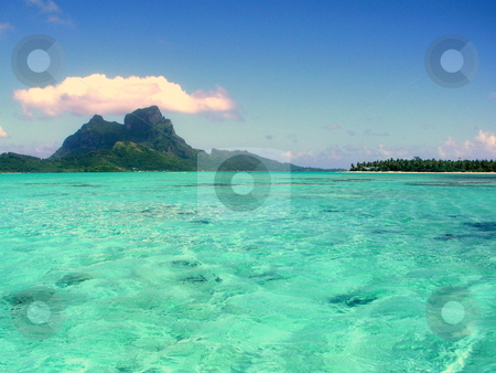 Bora Bora Lagoon stock photo,  by Ryan Dandy