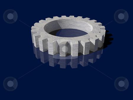 Gear stock photo, Gearwheel - 3d illustrtion by J?