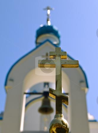 Oriental Church  stock photo, Oriental rood against the church and blue sky by Sergej Razvodovskij