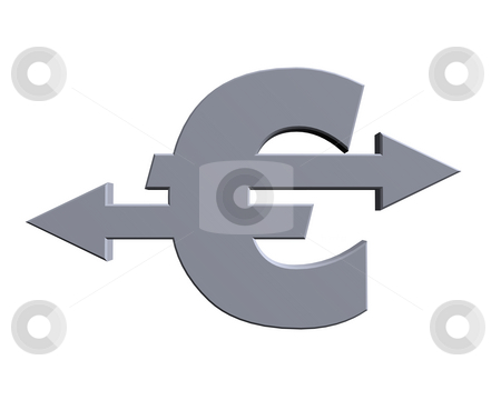 Euro stock photo, Euro sign with pointers - 3d illustration by J?