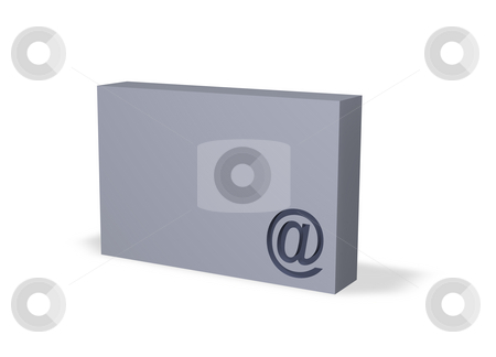 Email box stock photo, Email alias on a box - 3d illustration by J?