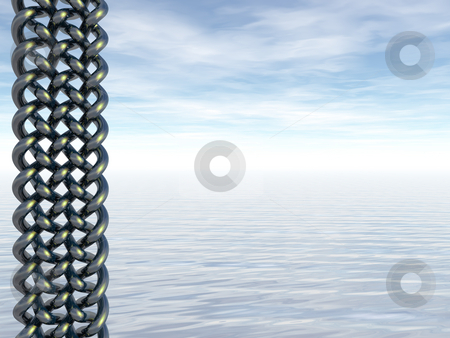 Celtic stock photo, Celtic art and water landscape - 3d illustration by J?