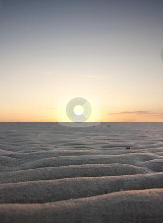 Sunset over desert  stock photo, Sunset over desert land by Jesper Klausen