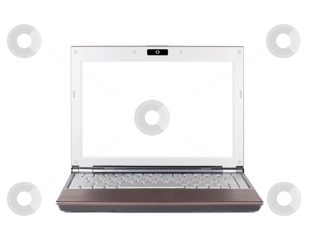 Isolated Laptop  stock photo, Isolated Laptop in white background by Lawren