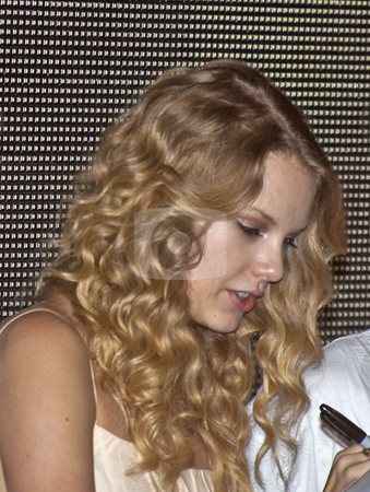Taylor Swift - CMA Festival 2009 stock photo, Taylor Swift at the CMA Festival 2009 in Nashvelle, Tennessee signing autographs by Dennis Crumrin