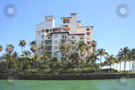 Condos in Biscayne Bay stock photo, Photographs of the condominiums, which are kept in one of the islands that make up the Bay of Biscayne. The site is internationally known for its tourist attractions as well as by celebrities in live. by Carlos Melillo