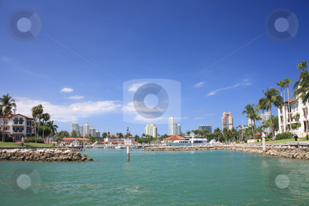 Marina. stock photo, Photographs of one of the marinas that exist in Biscayne Bay in Miami, Florida. by Carlos Melillo