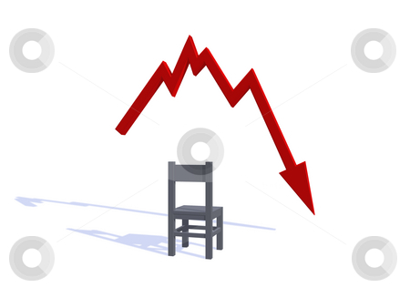Bad news stock photo, Businessgraph shows bad news - 3d illustration by J?