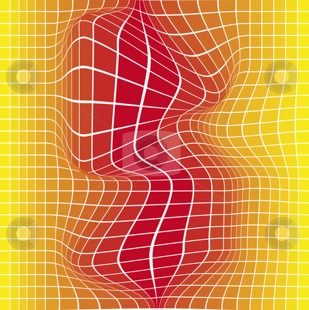 Yellow to red tile stock vector clipart, Nice formed 3D shaped yellow to red tiles nice for backgrounds or template by Karin Claus