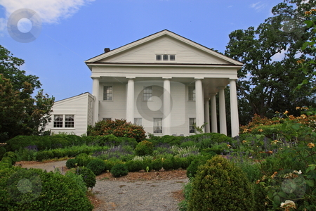 Estate Mansion stock photo, Barrington Hall built historic homes of Roswell Ga by Jack Schiffer
