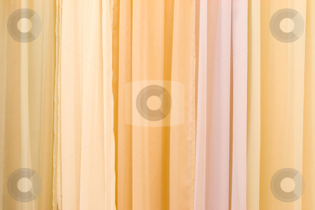 Multicolor Stage Curtain stock photo, Beautiful multicolor velvet stage curtain by Hieng Ling Tie