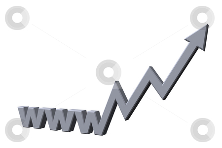 Online business stock photo, Www letters with arrow - 3d illustration by J?