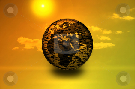 Global warming stock photo, Global warming theme dry earth by Jesper Klausen