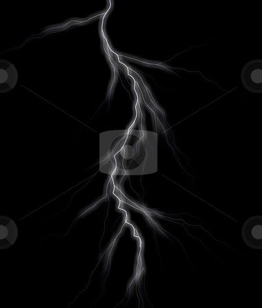 Lightning stock photo, Lightning on dark background illustration by J?