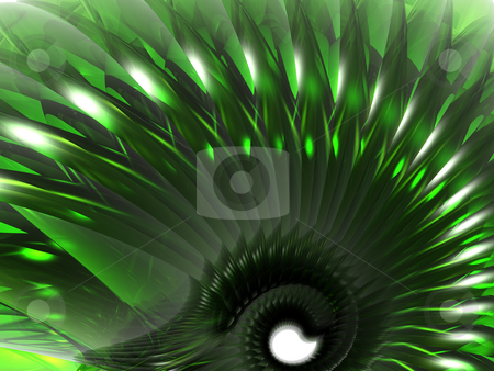 Green abstract thing stock photo, Abstract green swirl thing - 3d illustration by J?