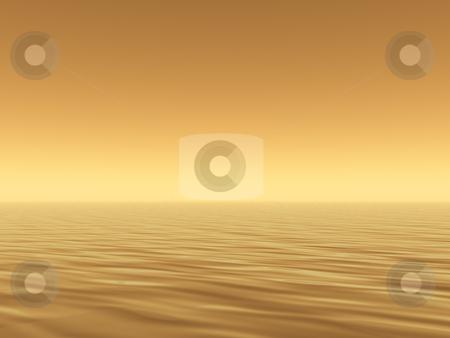 Sea stock photo, Sunny water landscape - 3d illustration by J?