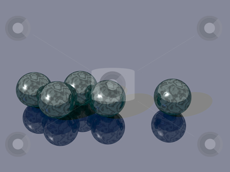 Glass sphere stock photo, Glass balls - 3d illustration by J?