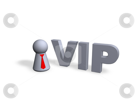Vip stock photo, Vip text in 3d and play figure - 3d illustration by J?