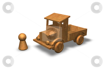 Wooden toys stock photo, Wooden toy truck by J?