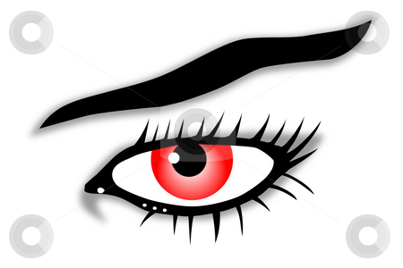 Red view stock photo, Red eye illustration by J?