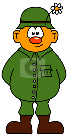 Soldier stock photo, Comic soldier by J?
