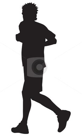 Jogging stock photo, Jogging man by J?