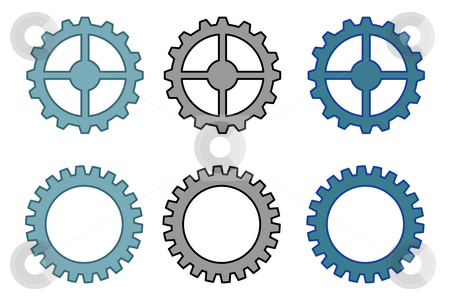 Gears stock photo, Gears illustration by J?