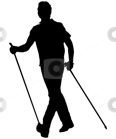 Nordic walking stock photo, Nordic walking man by J?